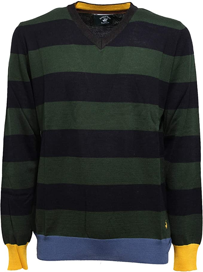 Beverly Hills Polo Club 4501K Maglione uomo Blue/Green Sweater Man ...