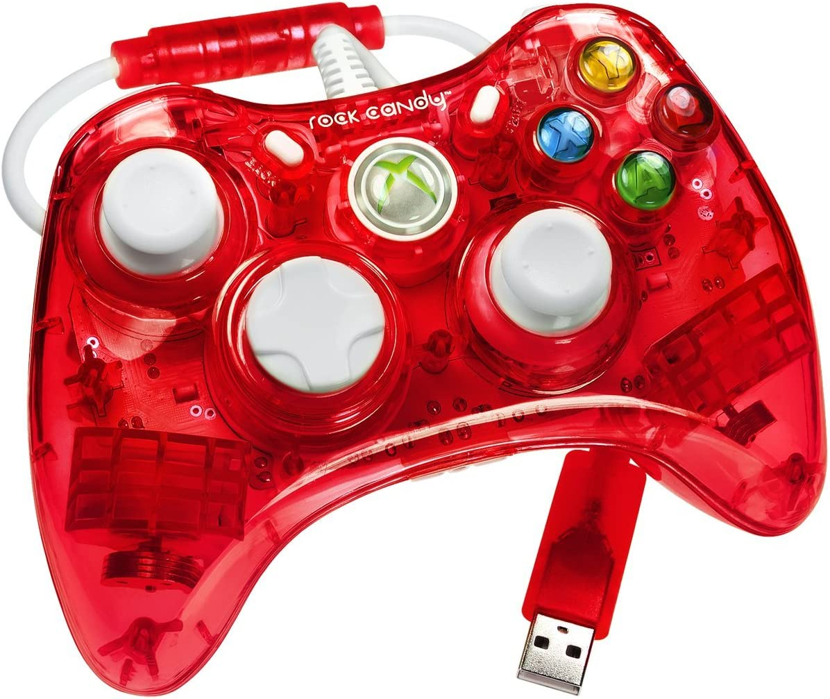 Wired Xbox One Controller Light Flashing: Amazon.com: Rock Candy Xbox 360 Controller - Red: Video Gamesrh:amazon.com,Design