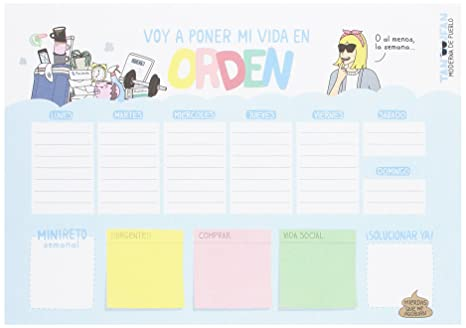 Amazon.com : Spanish-Language Weekly Planner with Modern ...