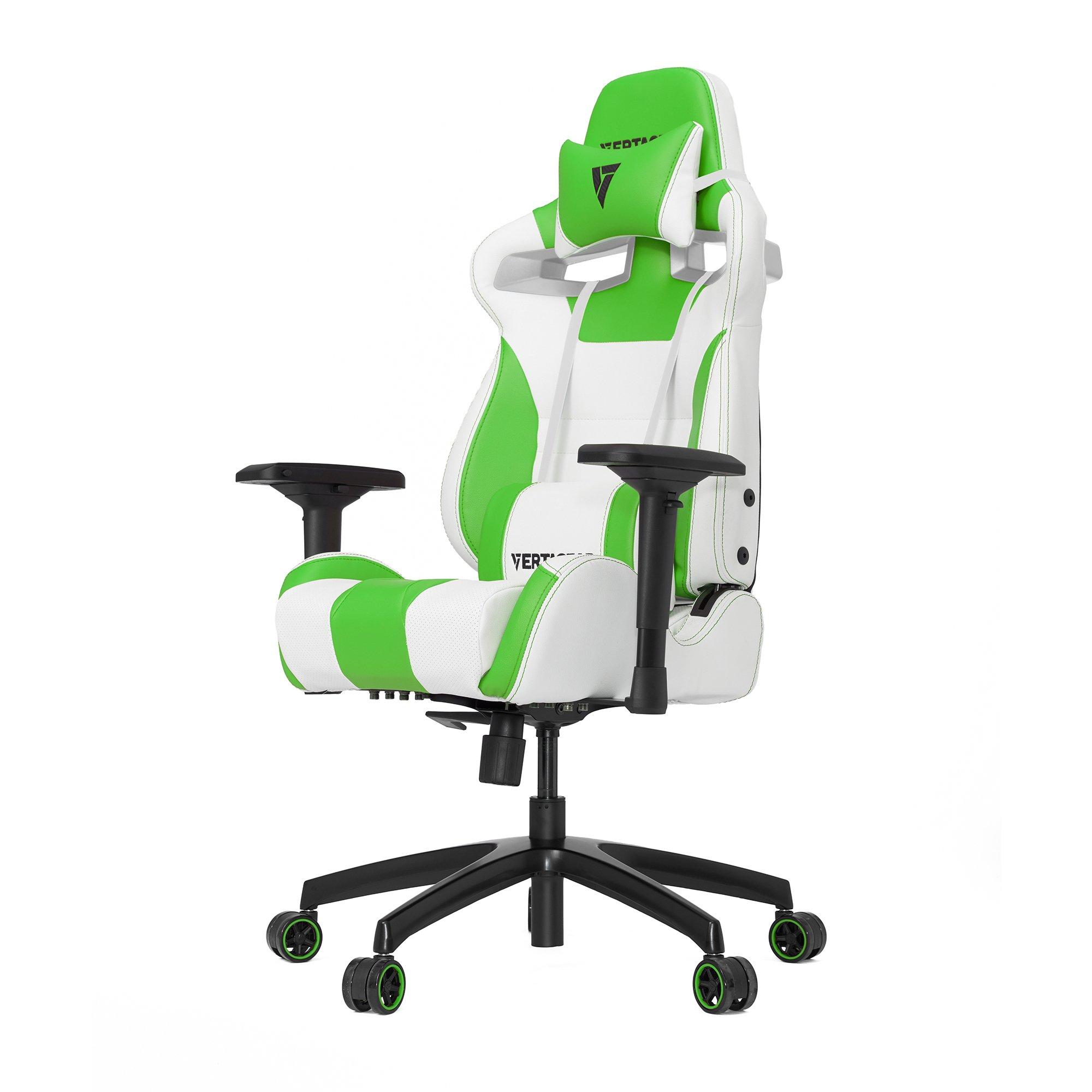 Vertagear S-Line SL4000 Racing Series Gaming Chair - White/Green (Rev. 2)