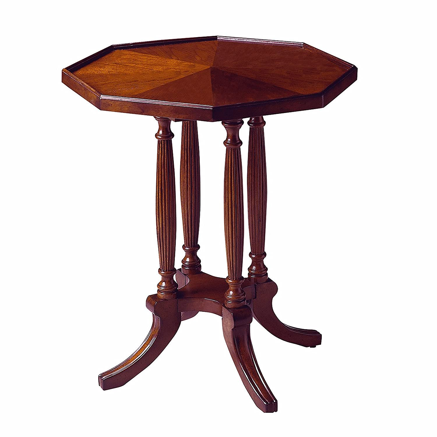 Amazon com kensington row furniture collection tables marquis octagonal accent table side table plantation cherry finish kitchen dining