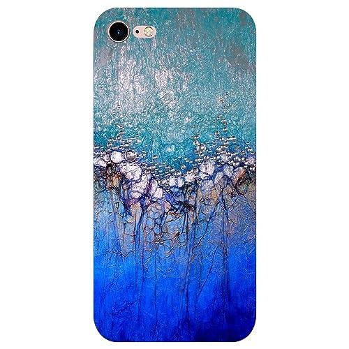 Funda iPhone 8, Vanki® Mármol Serie Diseño Suave Soft Transparente TPU Funda Adorable Parachoques Fu...
