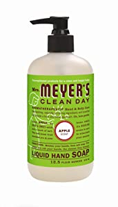 Mrs. MEYER'S CLEAN DAY Hand Soap Liquid, Apple, 12.5 Fl Oz (Pack of 6)