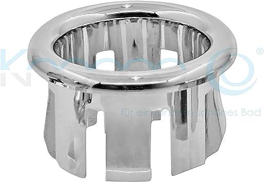 Überlaufblende Überlaufabdeckung waschbecken chrom