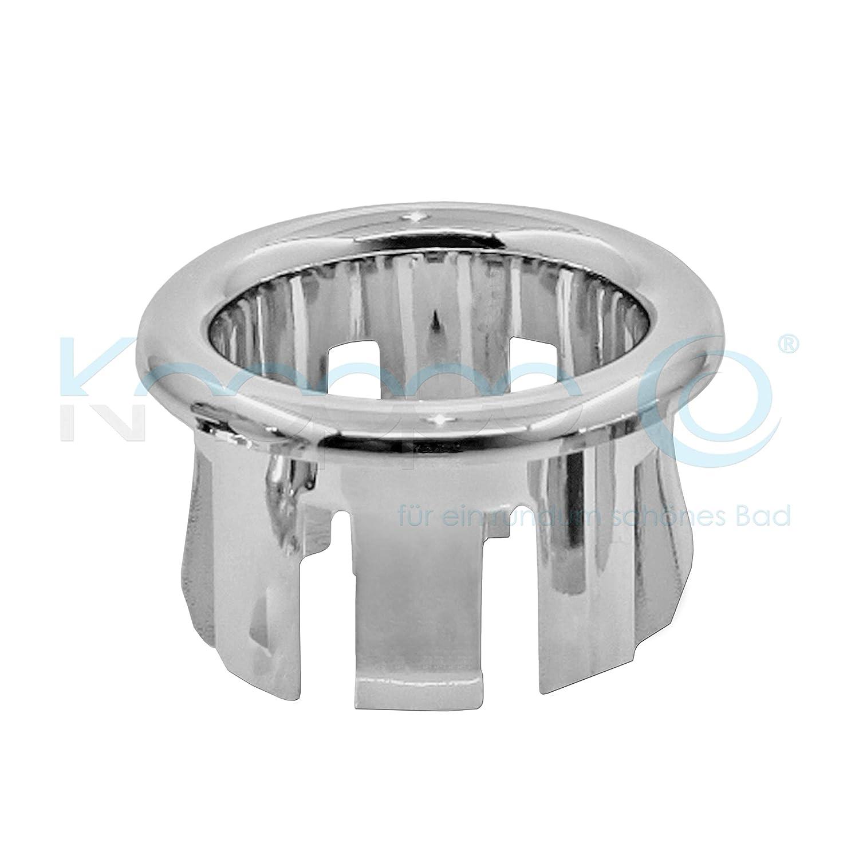 Waschbecken Design Ü berlauf Abdeckung, Ü berlaufblende - KNOPPO Set - 2 x Ring (chrom)