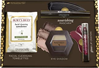 product image for Burt's Bees Boldly Beautiful Gift Set, 4 Products in Giftable Box - Eye Shadow Palette, Mascara, Lip Crayon and Facial Cleansing Towelettes