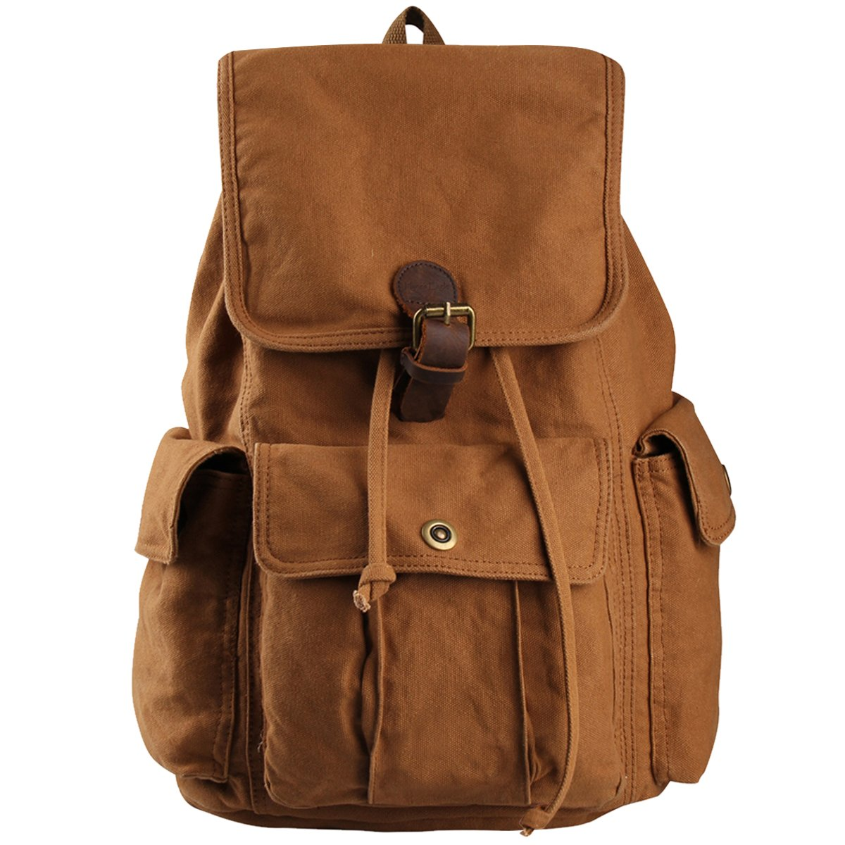 Hynes Eagle Retro Designer Canvas Backpack 28L Brown