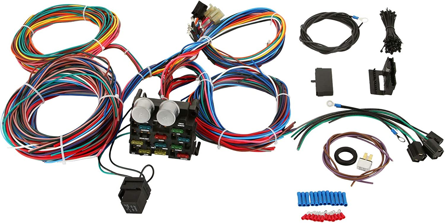[ZSVE_7041]  Amazon.com: Mophorn Wiring Harness Kit 12 Circuit Hot Rod Universal Wiring  Harness Muscle Car Street Rod XL Wires: Automotive | Best Street Rod Wiring Harness |  | Amazon.com