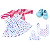 6b63666906de Frilly Lily Little Boats Dress Set For Luvabella Doll from, Dress  Cardigan,shoes , Nappy…