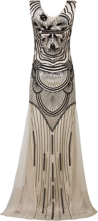 VIJIV 1920s Long Maxi Gowns