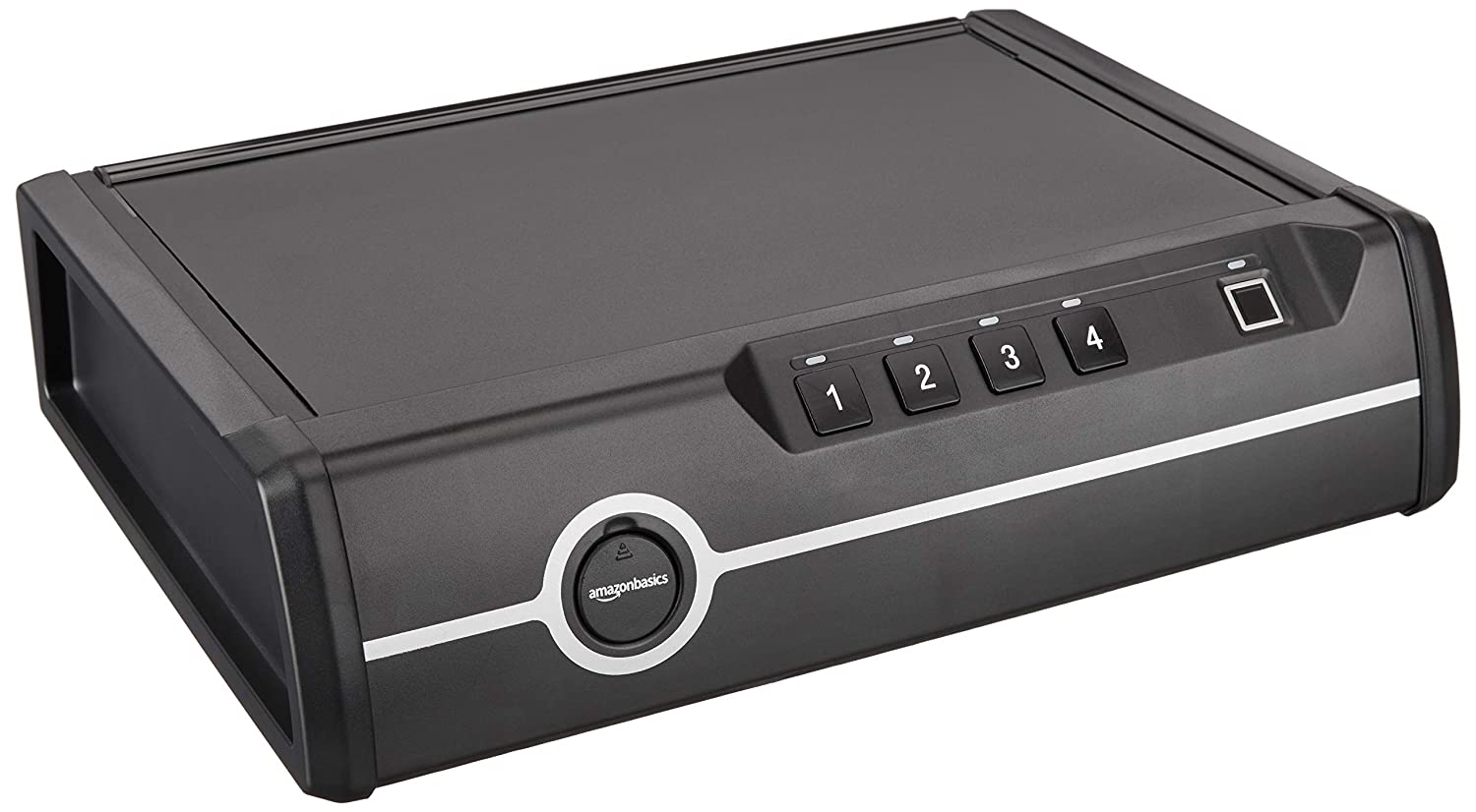 AmazonBasics Deluxe Quick-Access Dual Firearm Safety Device with Biometric Fingerprint Lock