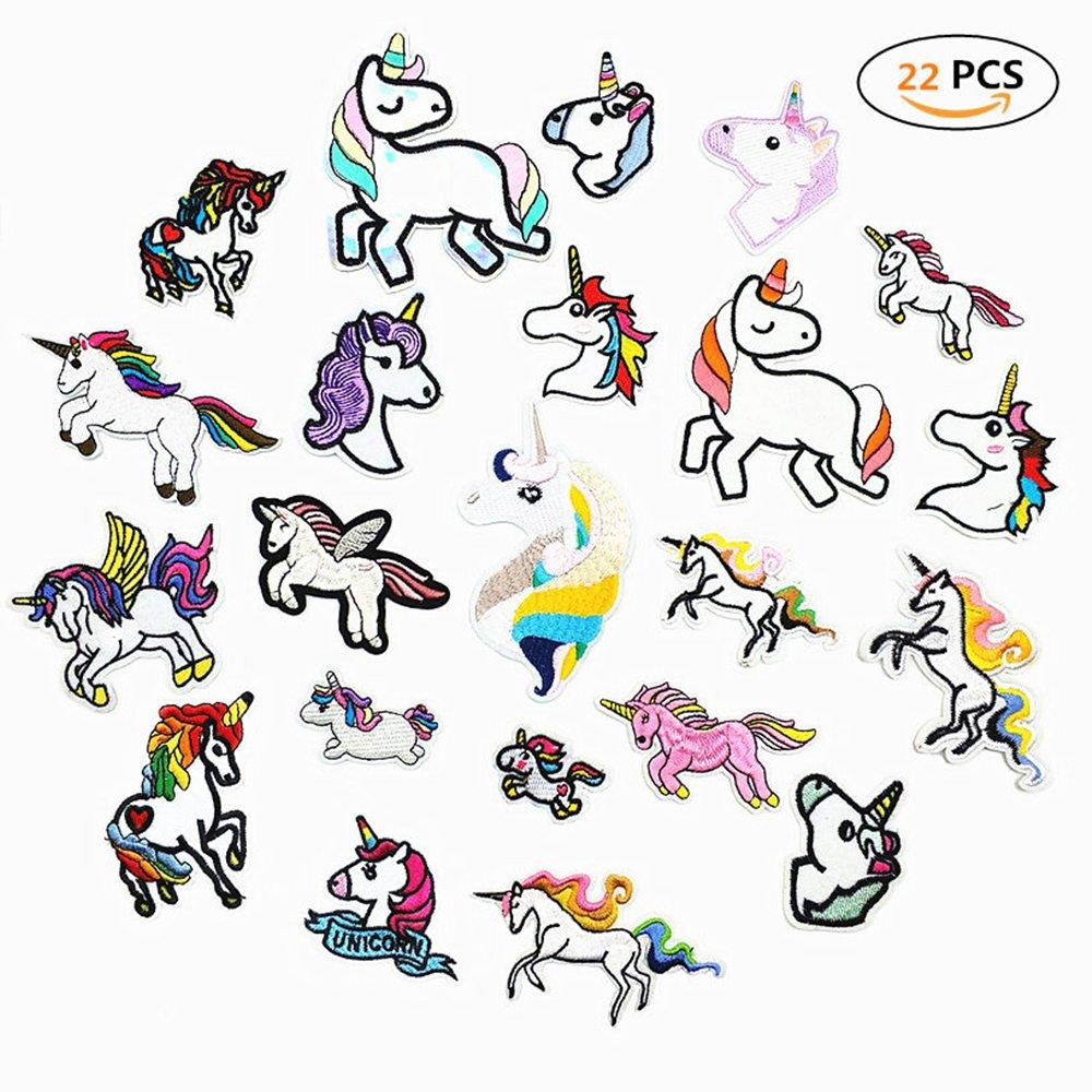 Niedlich DIY Kleidung Patches Aufkleber f/ür T-Shirt Jeans Kleidung Taschen DoBestLJZ 22 St/ück Einhorn Patches zum aufb/ügeln Sticker Applikationen Regenbogen Pferd zum N/ähen oder Aufb/ügeln