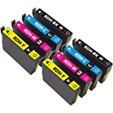 EPSON エプソン PX-048A / PX-049A 用 RDH-4CL 8PK(2BK/2C/2M/2Y) 増量版 8本セット 残量表示可能 ICチップ付 互換インクカートリッジ【1年保証付】