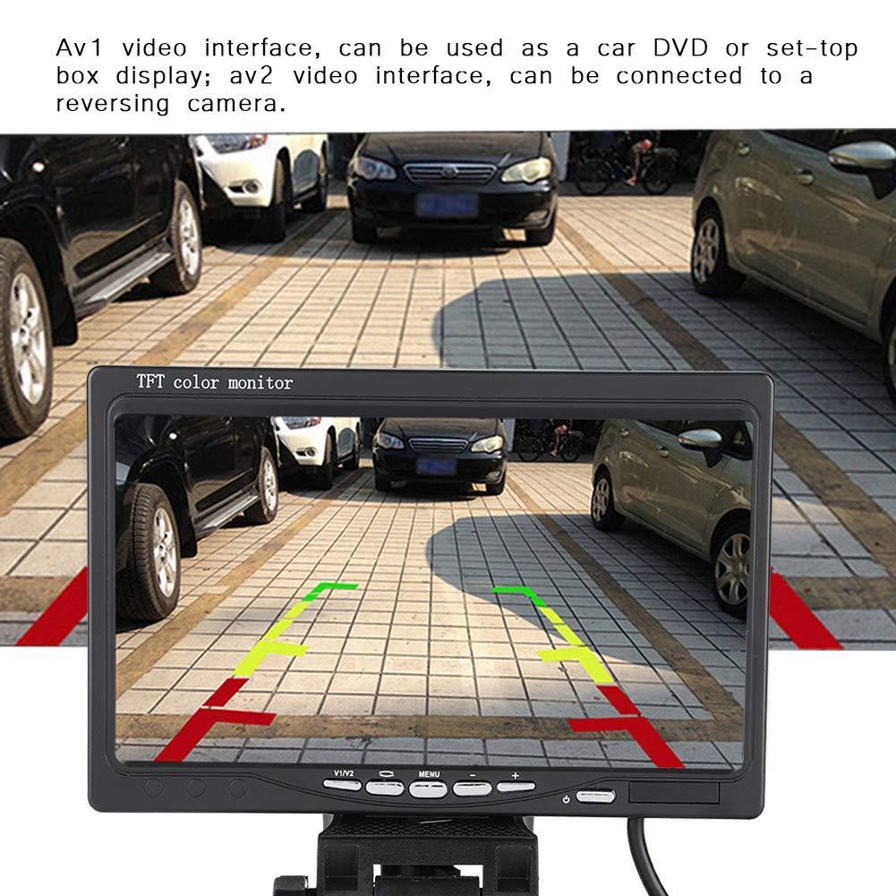 drehbar Rear View LCD Display mit Sonnenschutz Bildschirm f/ür Auto 7 Zoll R/ückfahrkamera Monitor Garsent LCD TFT Auto KFZ Monitor 2 Videoeingang,DC9V ~ 26V