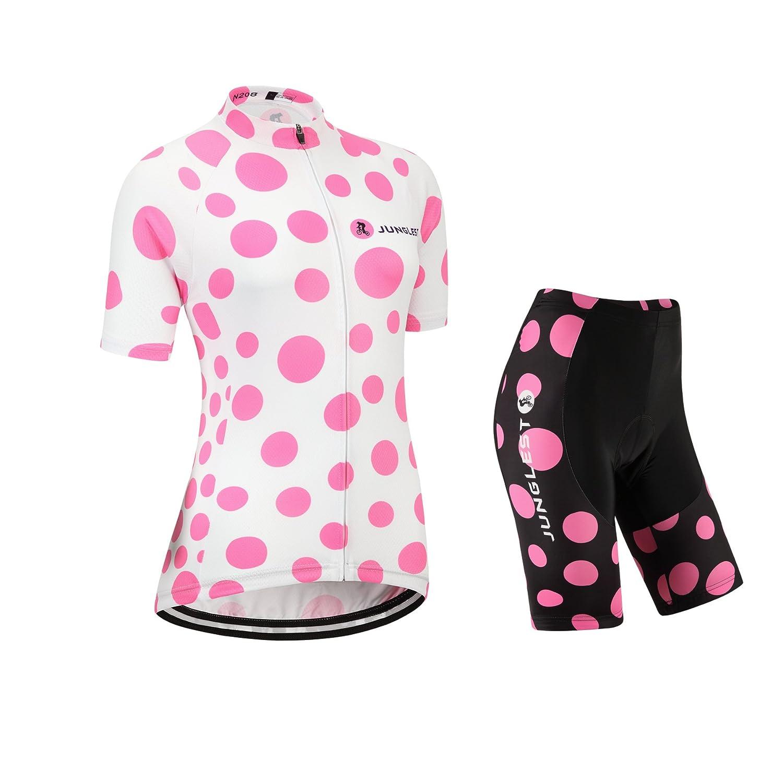 Cycling Jersey Setレディース半袖(S ~ 5 X L、オプション:よだれかけ、3dパッド) n208 B01BX304QM  種類: セット (2.8cm 3D pad)(Bust 40-43inchs)