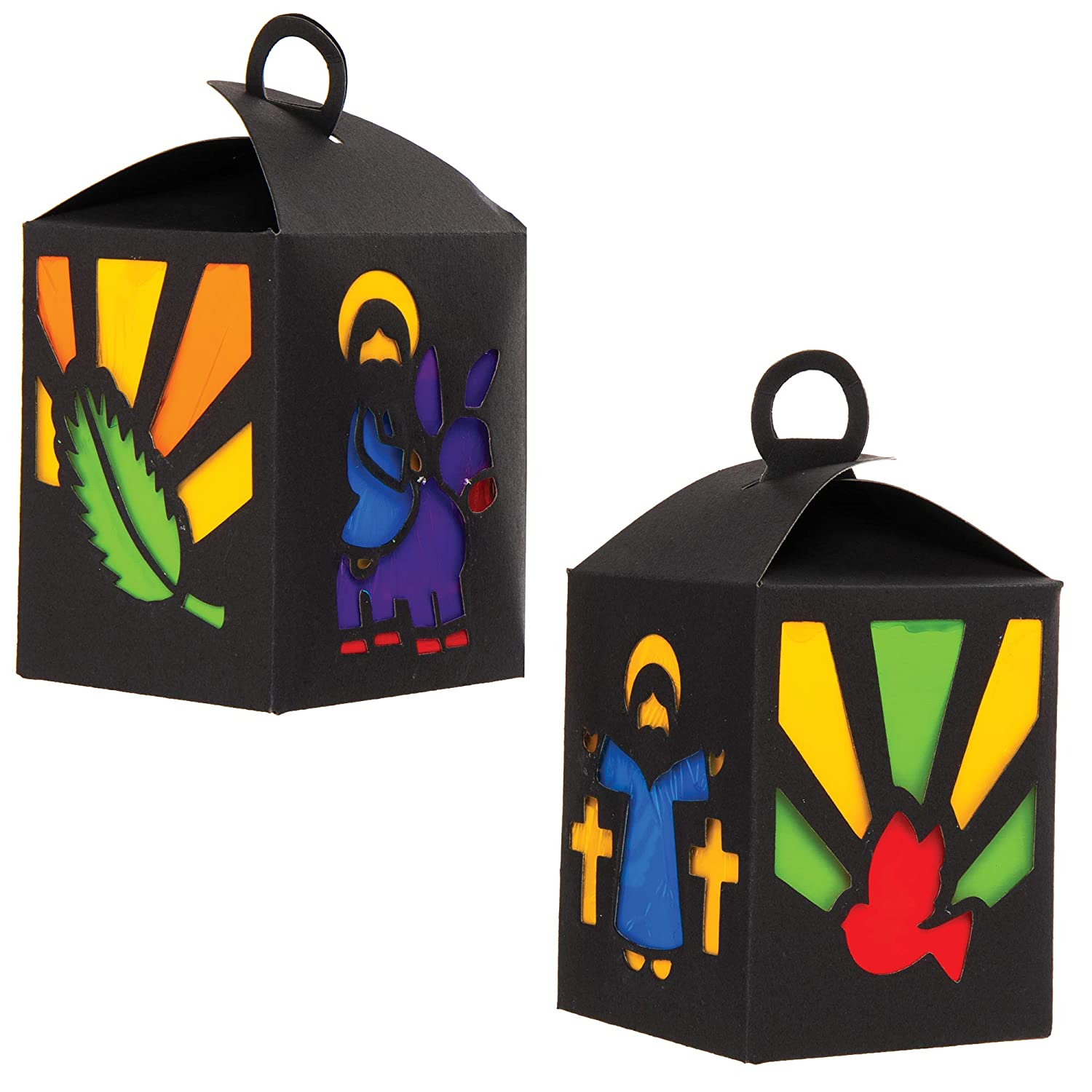 AT559 4 Pack Baker Ross Holy Week Lantern Kits /— Creative Easter Art and Craft Supplies for Kids to Make and Decorate