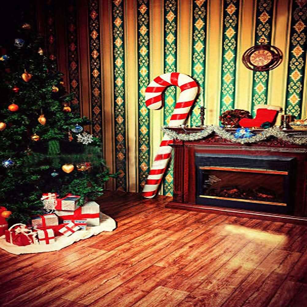 GladsBuy 素晴らしいクリスマスの壁紙 10フィート x 10フィート デジタルプリント 写真背景 クリスマステーマ背景 YHA-112   B016BX0GC6