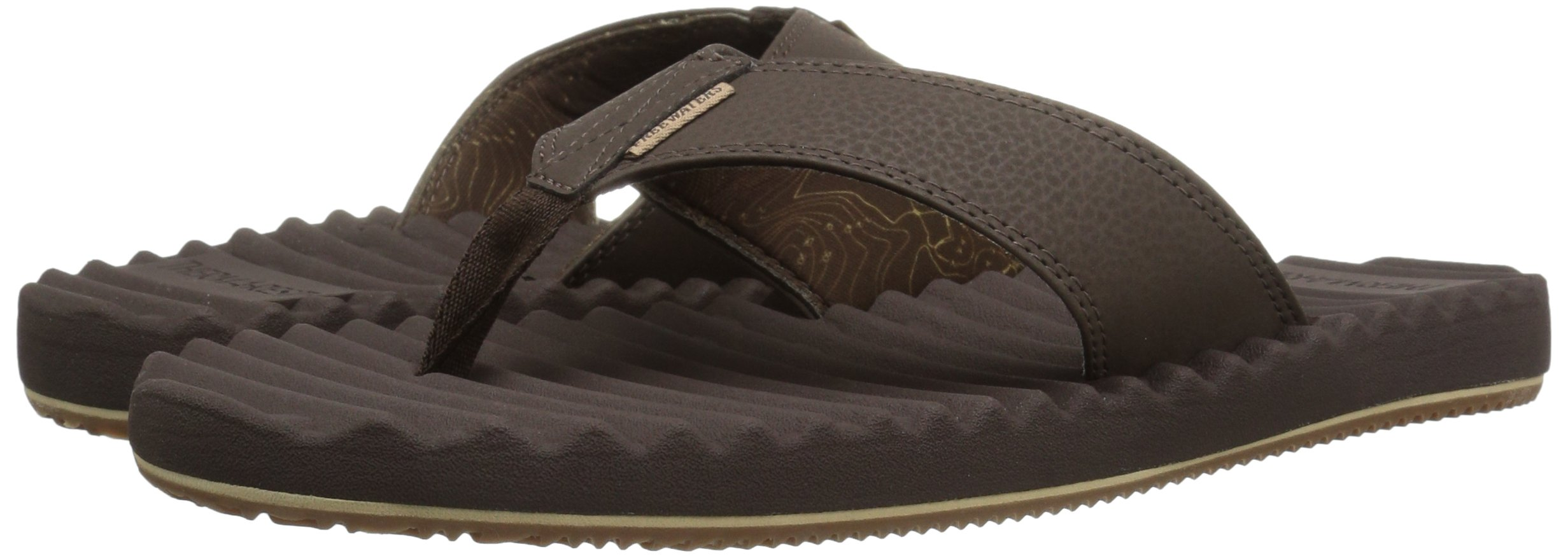 Freewaters Men's Basecamp Therm-a-Rest Flip Flop Sandal, Brown, 10 M US by Freewaters (Image #6)