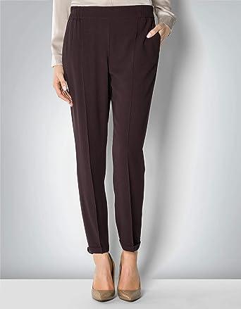 00bdff7aa1651e Joop! Damen Hose Viskose Pant Unifarben, Größe: 40, Farbe: Violett ...