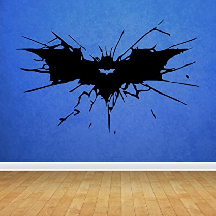 Decorvilla Wall Sticker ( Batman Sign ,Surface Covering Area 27 X 17 Inch)