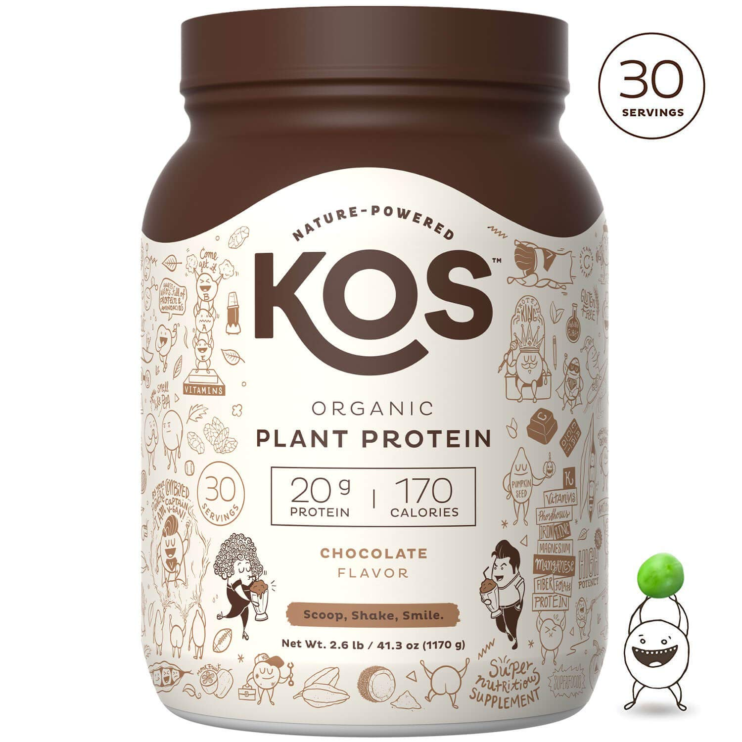 KOS Chocolate Organic Plant Based Raw Vegan Protein Powder
