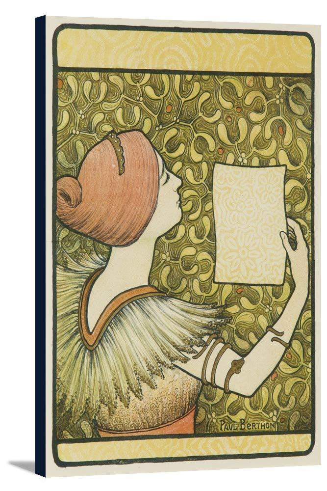 L 'annee LITHOGRAPHIQUE Iヴィンテージポスター(アーティスト: Berthon )フランスC。1898 24 x 36 Gallery Canvas LANT-3P-SC-62563-24x36 24 x 36 Gallery Canvas  B0184AZT80