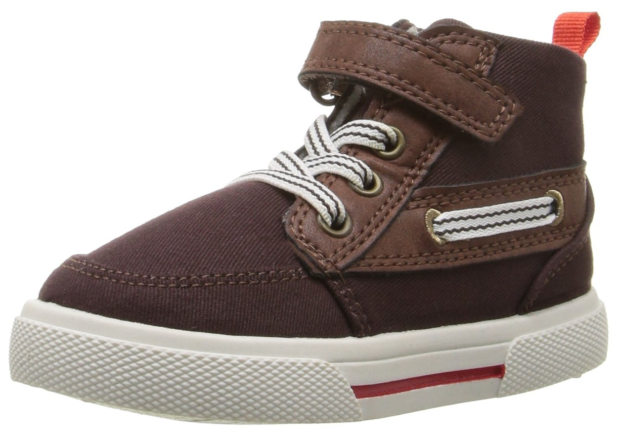 Carter's Boys' GENERAL2 High Top Sneaker, Brown, 9 M US Toddler