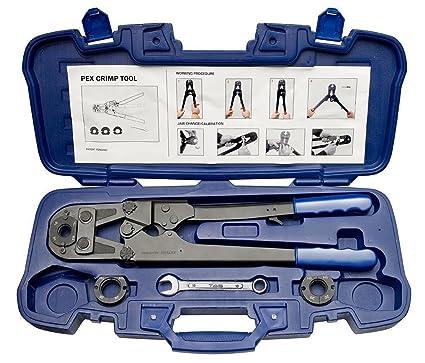 Alicate prensador manual profesional Coming utepr0026 para tubos multicapa, incluye todas las piezas