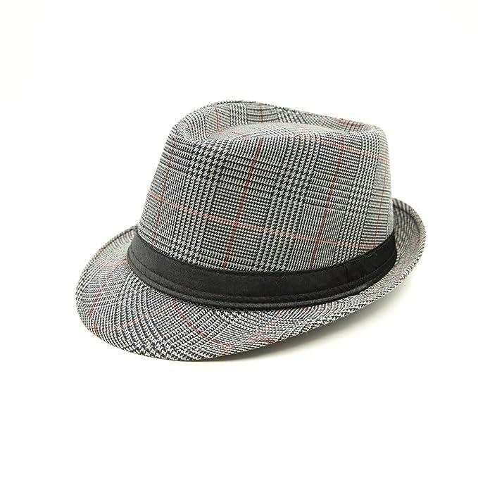 JEDAGX uomini donne unisex cotone leggero cappello di feltro con banda nera 26b43e966139