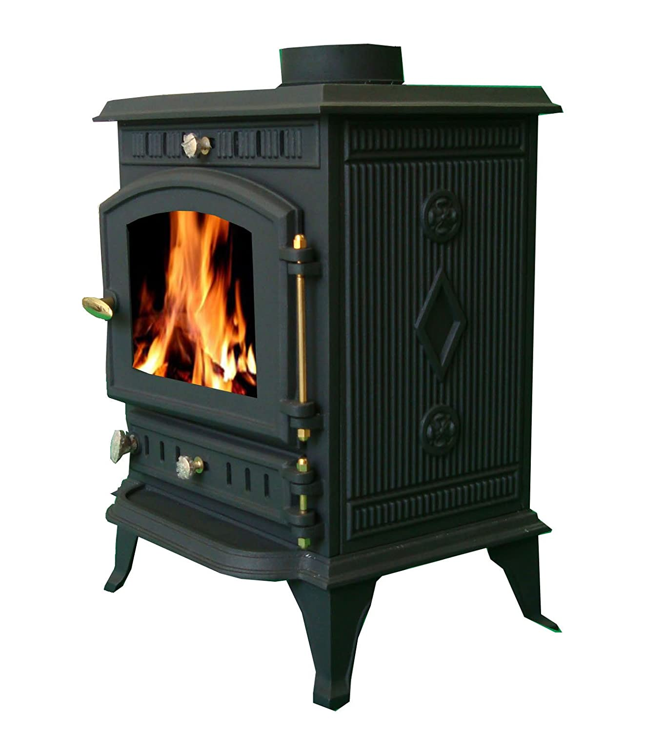 Amazon.com: FoxHunter Cast Iron Log Wood Burner Stove JA010 7KW Multi Fuel Fire Place: Home & Kitchen