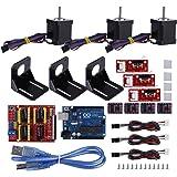 UNO R3用センサーキット Acouto プロフェッショナル 3Dプリンタ CNCモジュールキット Arduino用 Kuman UNO R3用 ステッパーモータードライブ