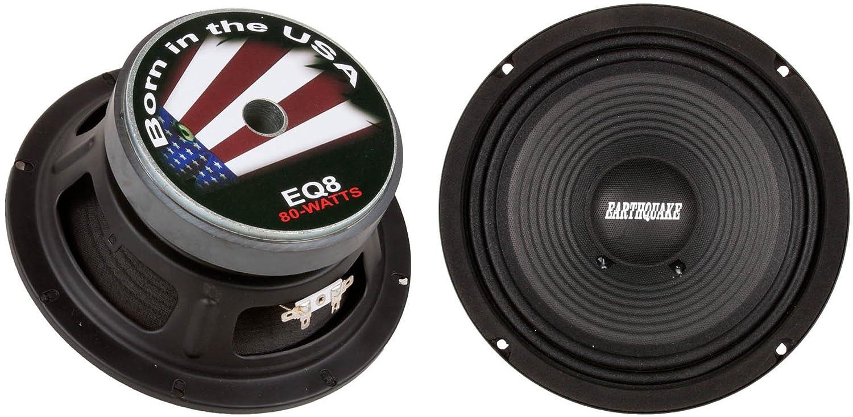 200 Watts Max Sealed Basket Earthquake Sound PR-EQ6S8 6.5-inch 8-Ohm Cloth Surround Speakers Pair