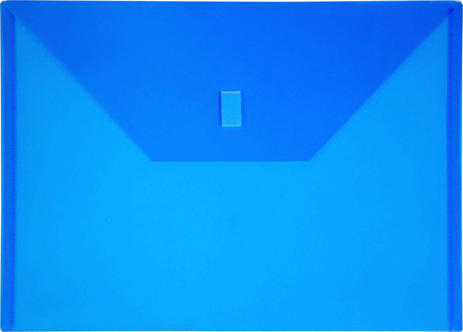Lion Design-R-Line Poly Envelope,9 3/8 x 13 Inches, Transparent Blue, Pack of 6 (22080-BL-6P)