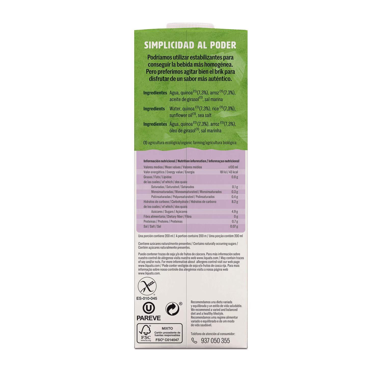 Yosoy - Bebida Ecológica de Quinoa con Arroz - Caja de 6 x 1L