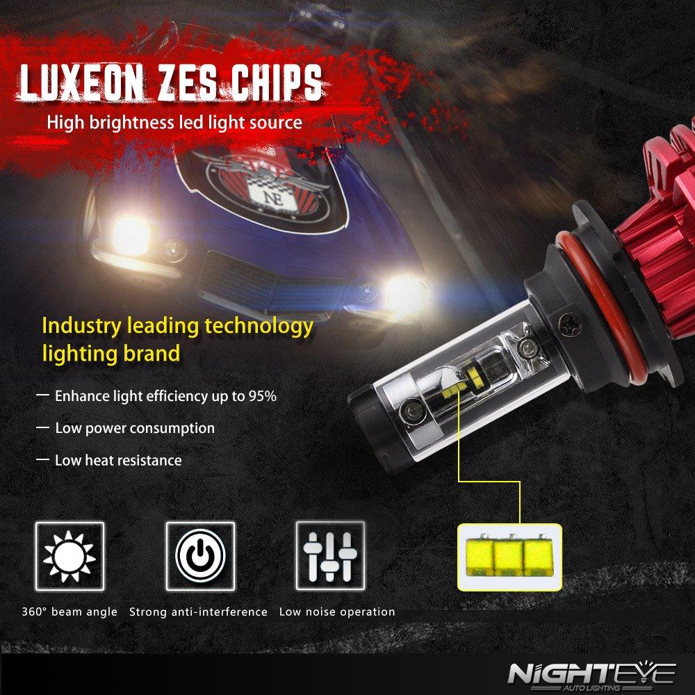Amazon.com: NOVSIGHT 9007 LED Headlight Bulbs - 60W 10000LM (3000K 6500K 8000K) Hi/Lo Beam - 2 Year Warranty: Automotive