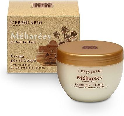L'Erbolario, Crema Corpo Méharées, Trattamento Tonificante ed Emolliente, 300 ml