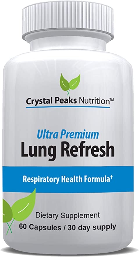 Lung Cleanser & Detox Supplement - Support Lung Health - Natural Relief from Effects of Smoking, Asthma, COPD, Bronchial Problems - Respiratory Health Supplement to Breath Easier. 60 Capsules