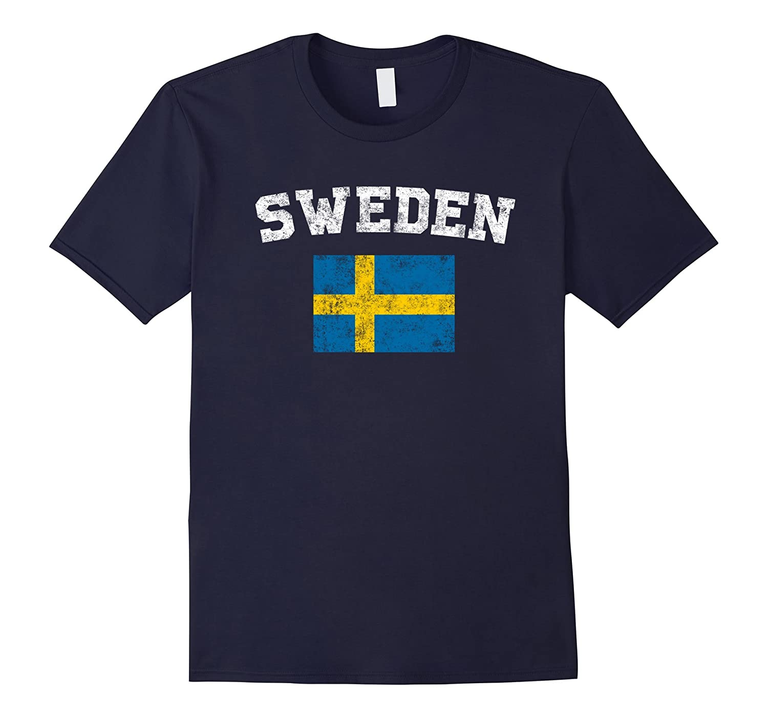 Swedish Flag Shirt - Vintage Sweden T-Shirt-TH