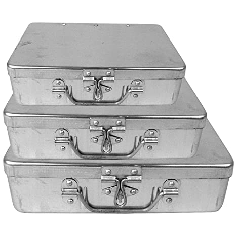 Neat Aluminium Multipurpose Boxes - Pack Of 3 Nos. Storage Boxes at amazon