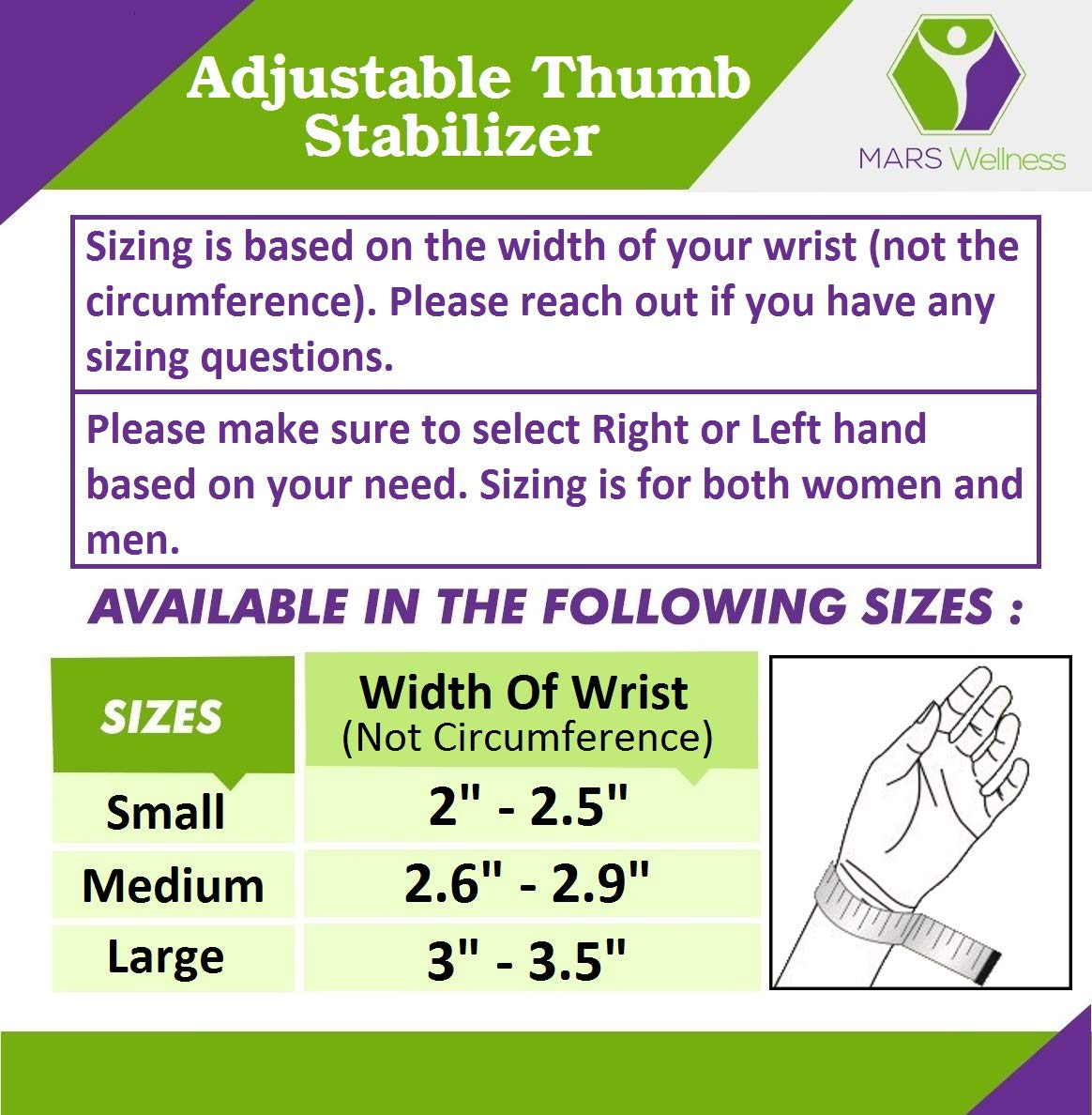 CMC Joint Thumb Arthritis Brace - Restriction Stabilizing Splint for Osteoarthritis and Other Thumb Pain Relief - Medium - Right Hand by MARS WELLNESS (Image #3)