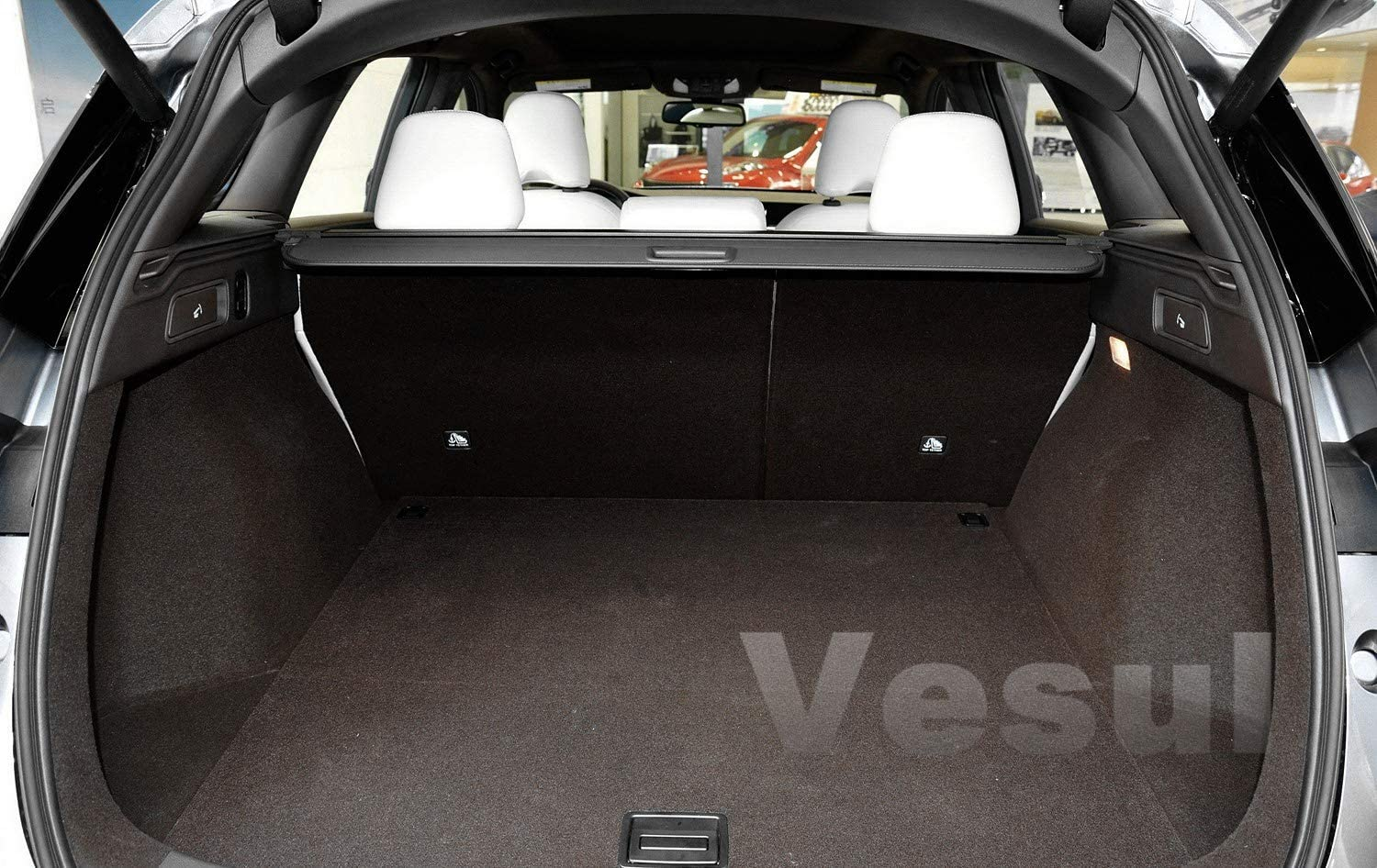 Vesul Black Tonneau Cover Retractable Rear Trunk Cargo Luggage Security Shade Cover Shield Fits on Infiniti QX50 2019