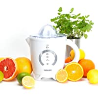 Duronic JE4 White Citrus Juicer Jug with 2 sized Juicing cones