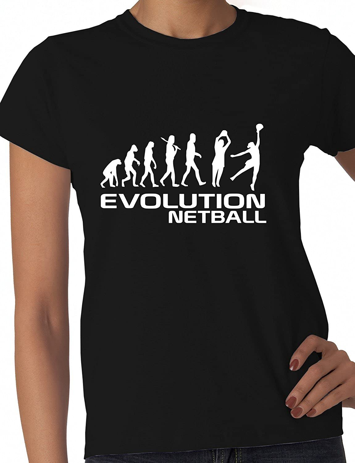 Design t shirt netball - Evolution Of Netball Funny Ladies T Shirt Size S Xxl