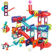 LUKAT Magnetic Tiles, 125 Piece Pipe Magnetic Blocks for Toddlers, 3D Clear Magnets Toys, STEM Toy Children Magnetic…