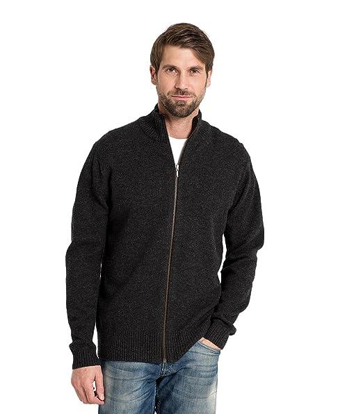 Amazon.com: woolovers Mens lana de oveja Lincoln Zipper ...