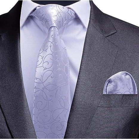 FDHFC Conjunto De Corbata para Hombre Corbata Floral Azul Y ...