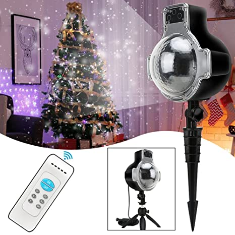 snowfall outdoor led christmas lights displays projector show waterproof projection snowflake lamp with wireless remote for - Led Christmas Lights Amazon
