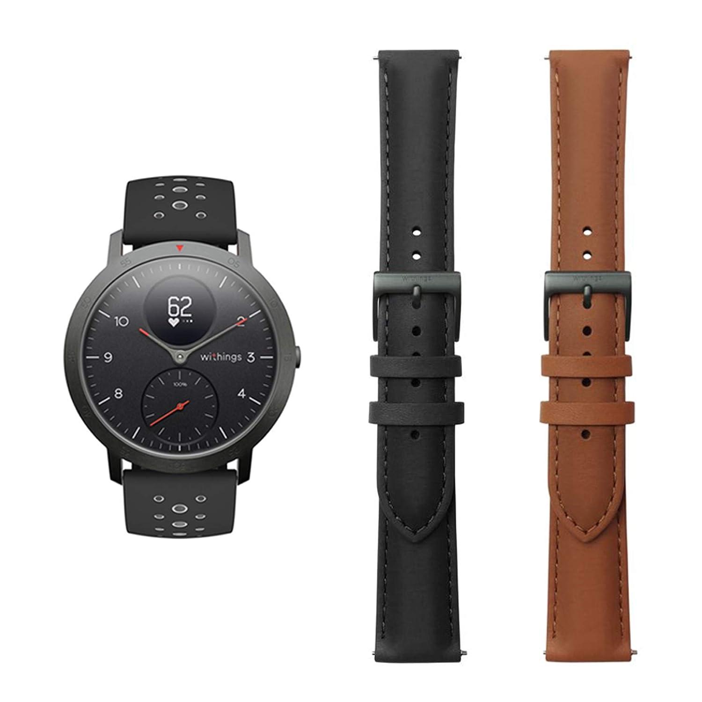 Withings Steel HR Sport - Multisport Hybrid Smartwatch schwarz 40mm 3700546704475