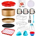 18-Pieces Cujmh Air Fryer Accessories with Recipe Cookbook Liners