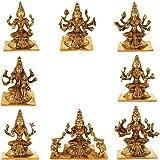 Haristore Brass Ashta Lakshmi Set (Golden, 10 x 7 x 12)